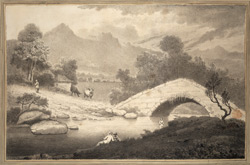 View of the Bridge at Borrowdale in Cumberland